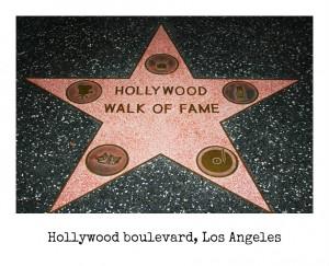 los ángeles hollywood boulevard walk of fame