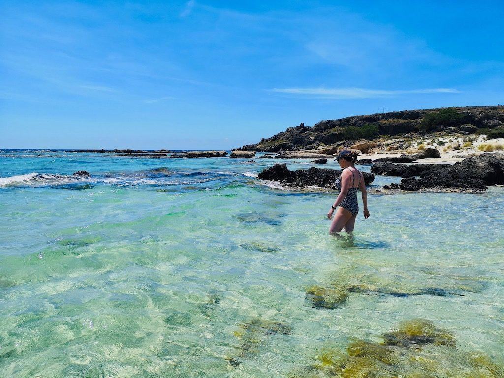 voyage en Crète baignade a elafonnissi