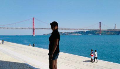 vue sur le pont du 25 avril a belem